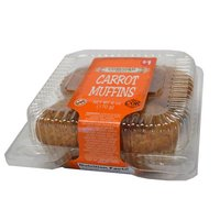Concord Bakery Carrot Muffins, 4 ct, 6 Ounce