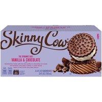 SKINNY COW Ice Cream Sandwich - Low Fat Vanilla & Chocolate, 24 Fluid ounce