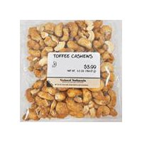 Valued Naturals Butter Toffee Cashews, 6.5 Ounce