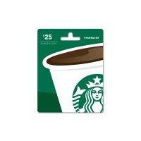 Starbucks $25 Gift Card, 1 Each