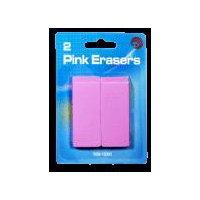 Avantix Pink Pencil Eraser, 2 Each