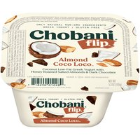Coconut low fat yogurt with dark chocolate and honey roasted salted almonds. 1.5% milkfat. Only natural Non-GMO ingredients. No artificial flavors or sweeteners. No preservatives. Includes live and active cultures. Three types of probiotics. Kosher.
