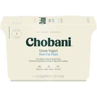 Chobani Non Fat Plain Greek Yogurt, 21.2 Ounce