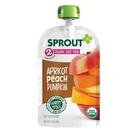 Sprout Organic Foods Stage 2 Baby Pouch - Apricot Peach Pumpkin, 3.5 Ounce