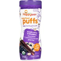 Happy Baby Happy Baby Superfood Puffs - Purple Carrot & Blueberry, 2.1 Ounce