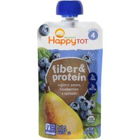 Happy Tot STG 4 Fiber & Protein Pears Blueberries & Spinach, 4 Ounce