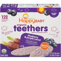 Happy Baby Happy Baby Organic Teethers - Blueberry & Purple Carrot, 1.7 Ounce