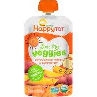 Happy Tot Happy Tot Love My Veggies Carrot Banana Mango & Sweet Potato, 4 Ounce
