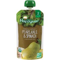 Happy Baby Happy Baby Organic Clearly Crafted Pears, Kale & Spinach, 4 Ounce