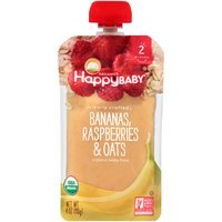 Happy Baby Happy Baby Clearly Crafted STG 2 Bananas Raspberries & Oats, 4 Ounce
