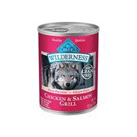 Blue Wilderness Salmon and Chicken Wet Dog Food, 12.5 Ounce