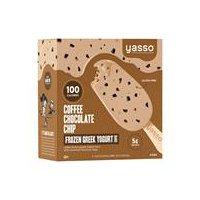 Yasso Frozen Greek Yogurt Coffee Chocolate Chip Bars 4pk, 14 Fluid ounce
