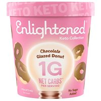 Enlightened - The good-for-you ice cream. 80 Calories per serving. More protein, less sugar.
