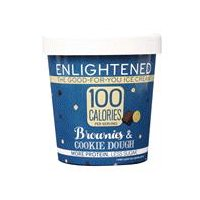 Enlightened, the good-for-you ice cream. 100 calories per serving, more protein, less sugar.