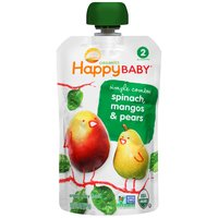 Happy Baby Stage 2 Simple Combos - Spinach Mangos & Pears, 4 Ounce