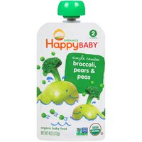 Happy Baby Happy Baby STG 2 Simple Combos Broccoli Pears & Peas, 4 Ounce