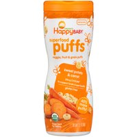 Happy Baby Happy Baby Superfood Puffs - Sweet Potato & Carrot, 2.1 Ounce