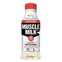 Muscle Milk Genuine Vanilla Creme Non Dairy Protein Shake, 14 Fluid ounce