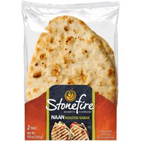Stonefire Stonefire Naan Roasted Garlic, 2 Each