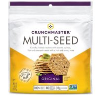 Crunchy, baked crackers with sesame, quinoa, flax and amaranth seeds with a rich and savory taste. Gluten Free. (4.0 oz)
