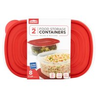 ChefElect 64 Ounce Rectangular Food Storage Containers, 2 Each