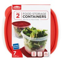 ChefElect 56 Ounce Square Food Storage Containers, 2 Each