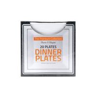 TDC USA Inc. Square Dinner Plate Set, 20 Each