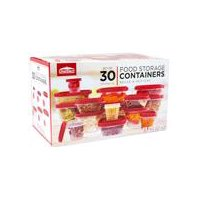 ChefElect Food Storage Containers with Lids, 30 Each