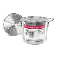 Chef Elect Steamer Stock Pot, 20 qt, 1 Each