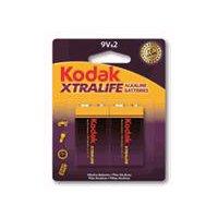 Kodak Xtralife Alkaline Batteries - 9V, 2 Each