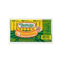 Nathan's Famous Bun-Length Skinless Franks - 8 Count, 8 Each