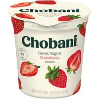 Chobani Greek Yogurt - Non-Fat Strawberry, 32 Ounce