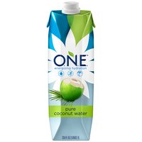 Fat free. Gently pasteurized. 100% natural coconut water from inside a young green coconut.  Has 5 essential electrolytes, more potassium than a banana,  no cholesterol,  no preservatives.