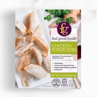 All natural chicken. Filling is packed with flavors of cilantro, garlic and ginger
