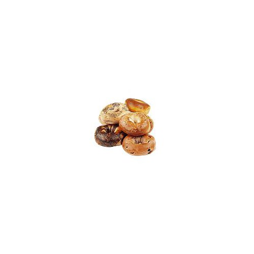 Be sure to specify or we will select a variety from what is available.Baked Fresh Daily-Assorted Varieties including - Plain, Sesame, Poppy, Everything, Cinnamon Raisin, Onion, Pumpernickel, Egg, Wheat, Garlic - 12 Count-.79 cent per bagel