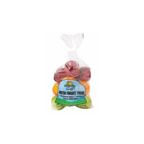 Assorted fruit bag with apples and oranges that create a bag filled with flavor.