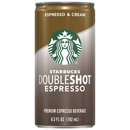 Starbucks Doubleshot espresso drink is made with the rich, full-bodied espresso you love, and it's always ready to grab and go when you need the inspiration that great coffee provides.
