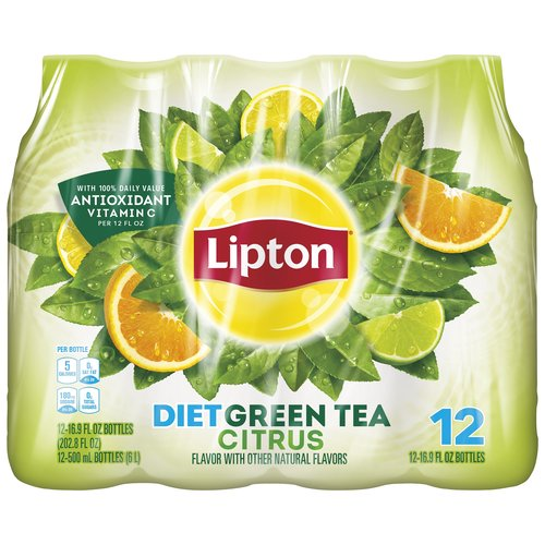 Lipton Diet Green Tea with Citrus blends smooth, delicious green tea with the tang of citrus to give you a great tasting green tea