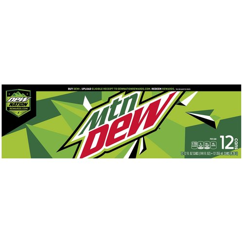 12 fl oz each. The original, the one that started it all. Exhilarates and quenches with its one of a kind taste.  #DOTHEDEW #MountainDew