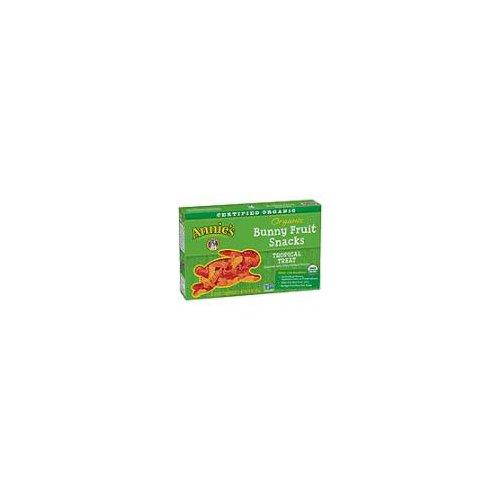 Organic Bunny Fruit Snacks, Tropical Treat, 5 Pouches
