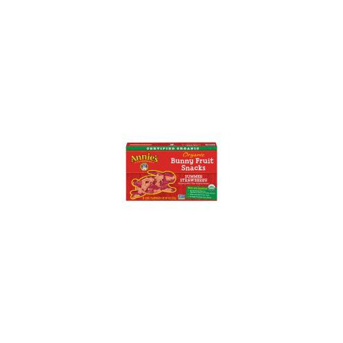 Organic Bunny Fruit Snacks, Summer Strawberry, 5 Pouches