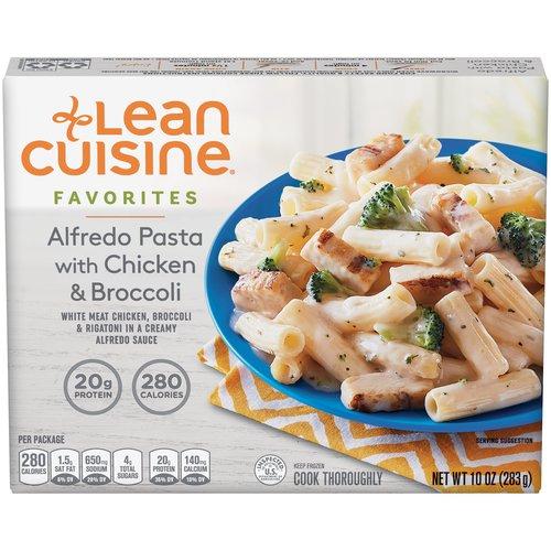 White meat chicken, broccoli & rigatoni in a creamy alfredo sauce.