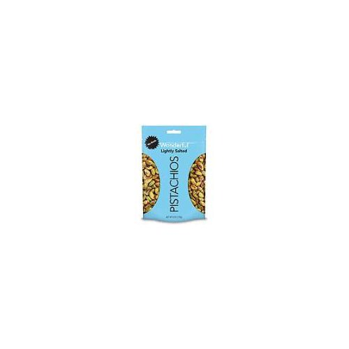 One 6 Ounce Resealable Pouch of our Roasted & Lightly Salted No Shells Wonderful Pistachios.