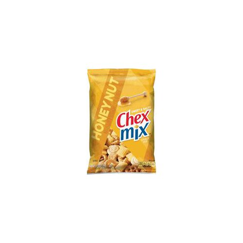 Chex Mix(R) Sweet 'n Salty Honey Nut (4g per 30g serving) has 60% less fat than regular potato chips (11g per 30g serving). Naturally and artificially flavored.  Experience the perfect combination of sweet 'n salty like never before! With a variety of delicious tastes and textures, Chex Mix(R) brings you the more interesting sweet 'n salty snacking experience. Chex Mix is a bag of interesting!(TM)
