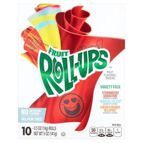 Cherry Orange Wildfire, Strawberry,Tropical Tie-Dye. 10-0.5 oz. Rolls