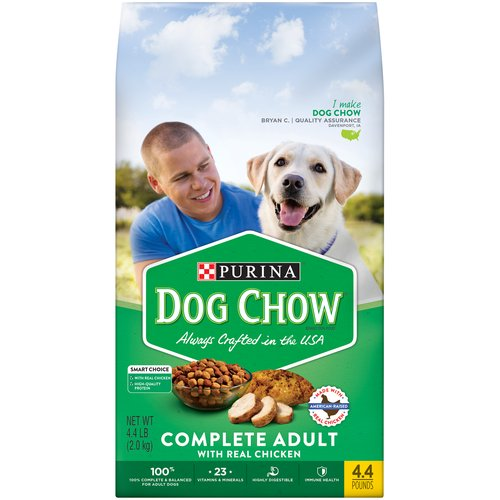 Give your dog the essential nutrition he needs with Purina Dog Chow Complete with Real Chicken adult dry dog food. This highly digestible meal provides high-quality protein for his strong muscles.