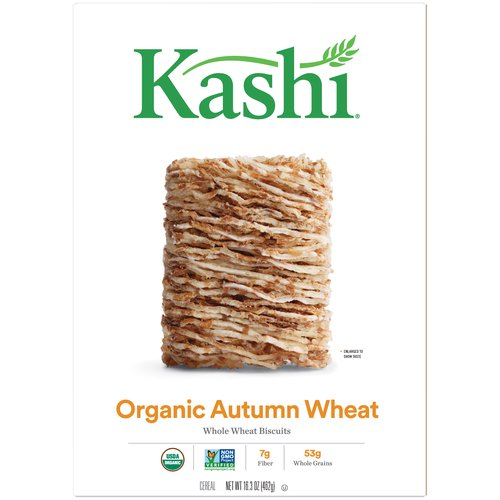Lightly sweetened Whole Wheat Biscuits. 50 g whole grains. 6 g fiber. 1 g fat per serving. Sodium free. Non-GMO. Certified USDA organic.