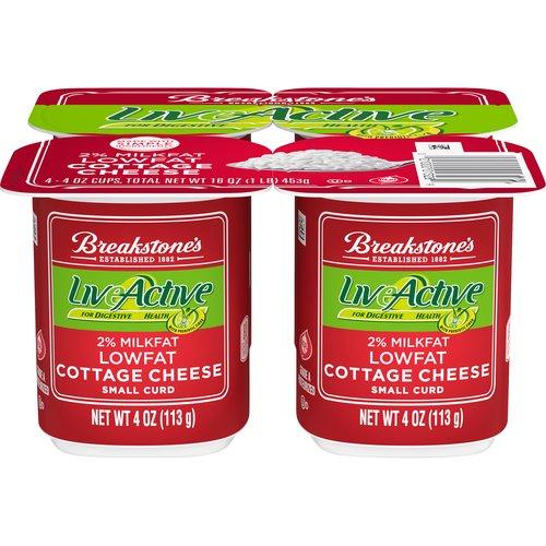 2% Milkfat. For digestive health. With prebiotic fiber. 4 - 4 oz cups
