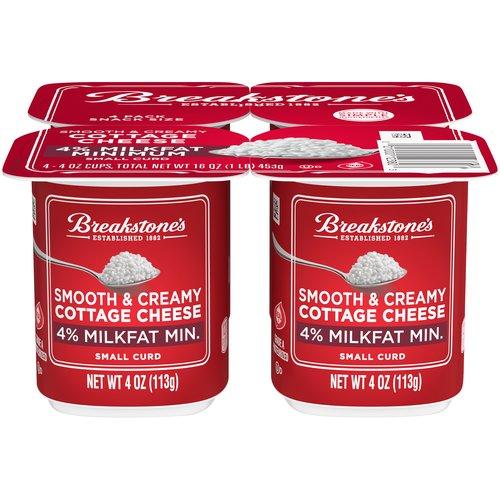 Smooth & Creamy. 4% milkfat min. 4 - 4 oz cups
