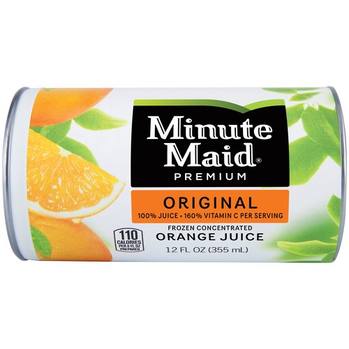 100% ORANGE JUICE FROM CONCENTRATE. Authentic, timeless and downright deliciously refreshing juice made from perfectly ripe, natural oranges. That's what Minute Maid 100% Original is all about.